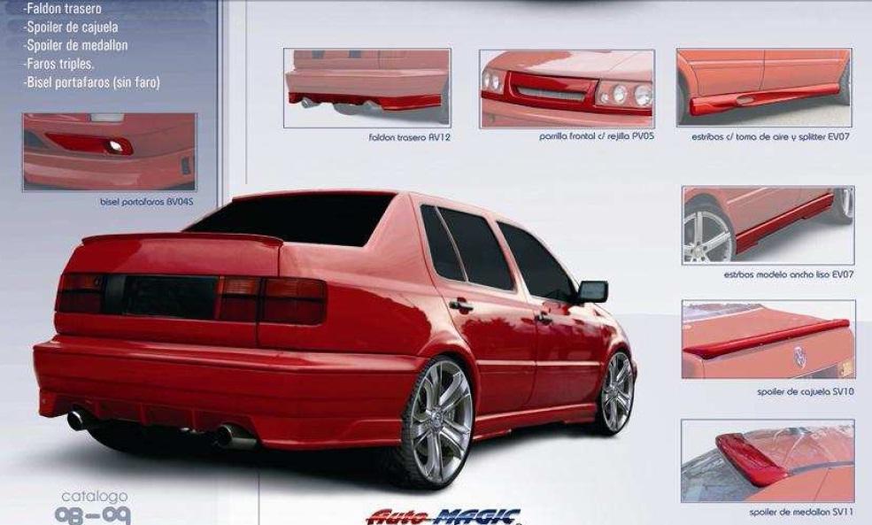 Estribos Golf/ Jetta A3 Aplicacion De Aluminio 1993-1998 Au1 ...