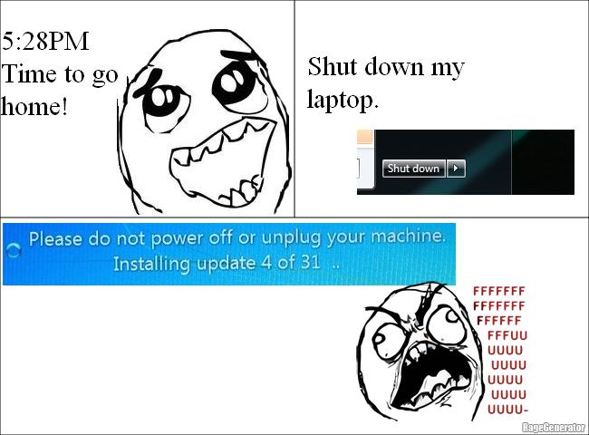 Windows Update on Shutdown